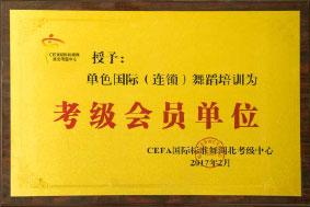 单色国际(连锁)舞蹈培训 考级会员单位