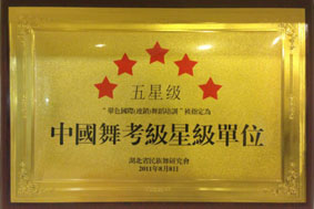 中国舞 五星级考级单位